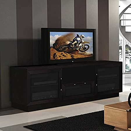 Contemporary 60-inch Wenge Finish TV and Entertainment Wood Console