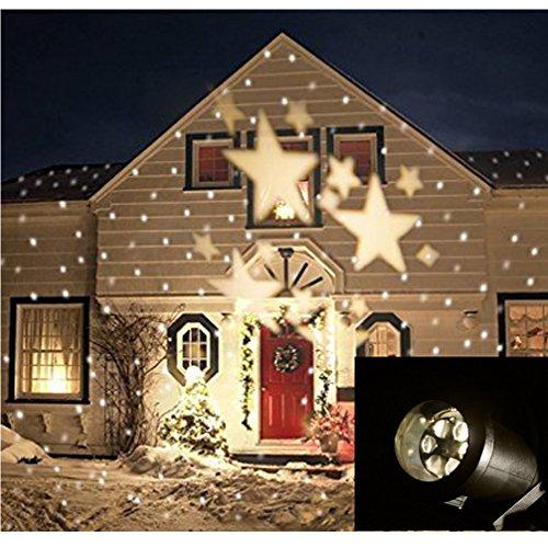 Proiettore Luci Natale Giardino.Gaxmi Led Paesaggio Faretti Fata Stelle Modello Giardino Parete