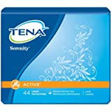 Tena Serenity Liners - Active - Long - 44 Liners Each - 1 Package