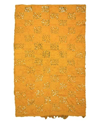 nuLOOM One-of-a-Kind Hand-Knotted Vintage Moroccan Wedding Shawl Rug, Orange, 6' 3 x 8' 4