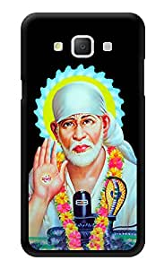 "Humor Gang Shri Sai Baba Portrait - - Indian Hindu God Printed Designer Mobile Back Cover For ""Samsung Galaxy j5"" (3D, Glossy, Premium Quality Snap On Case)"