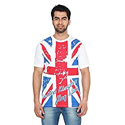 Trenders Round Neck White Color T Shirt with Britain print