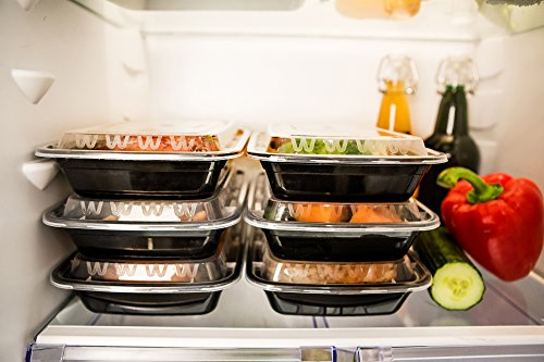 bento lunch box meal prep food restaurant containers with lids 9 pack. Black Bedroom Furniture Sets. Home Design Ideas