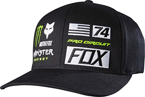Fox Racing Monster Union FlexFit Hat BLack Small/Medium (Monster Hats Energy compare prices)