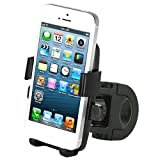 iOttie One-Touch Bike Mount Holder for iPhone 5 4S 4 3GS iPod Touch Samsung Galaxy S4 S3 S2 Nokia Lumia 920 HTC OneX EVO 4G Rhyme DROID RAZR MAXX Google Nexus LG Optimus G BlackBerry Z10 Torch Compact Size GPS