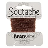 BeadSmith Textured Metallic Soutache Braided Cord 3mm Wide - Bronze (3 Yards)