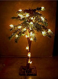 #!Cheap 18 Inch Table Top Lighted Christmas Palm Tree 35 Lights