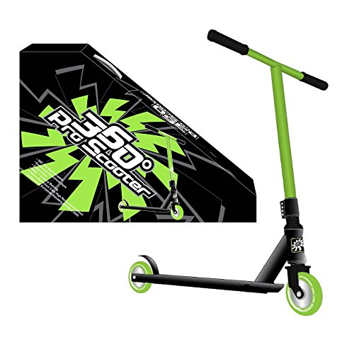 360 PRO STUNT SCOOTER - BOYS - GREEN - REINFORCED ALUMINIUM DECK - GREAT FOR TRICKS, JUMPS - IDEAL ALL YEAR ROUND