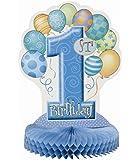 """Centro Tavola Celeste """"1° Compleanno"""""""