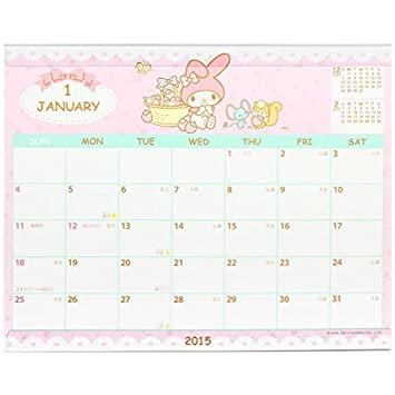 Com My Melody Calendar 2015 Tabletop Calendar Calendar