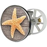 Sanitop-Wingenroth 19497 6 Bouchon d'évier en métal motif étoile de mer 2 38 mm