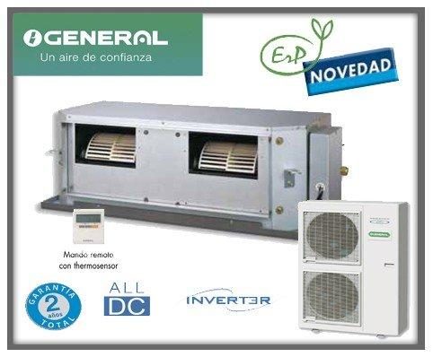 Equipo de aire acondicionado modelo 2013 con bomba fr�o/calor, bajo nivel sonoro. Equipo inverter. Calidad/precio excepcional. General Conductos