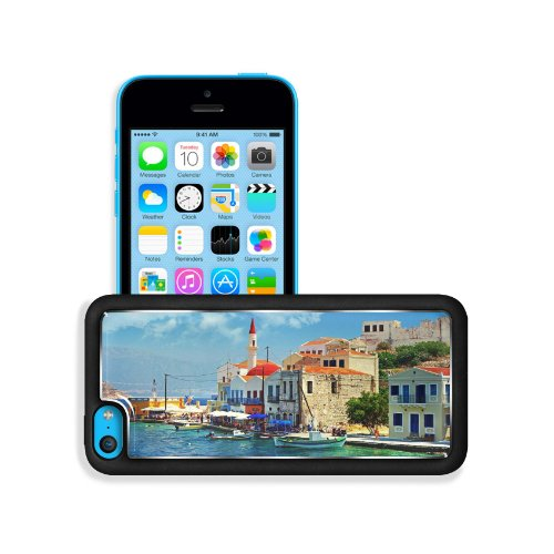 Corner Greece Port City Landscape Apple Iphone 5C Snap Cover Premium Aluminium Design Back Plate Case Customized Made To Order Support Ready 5 Inch (126Mm) X 2 3/8 Inch (61Mm) X 3/8 Inch (10Mm) Msd Iphone_5C Professional Metal Case Touch Accessories Graph front-968958