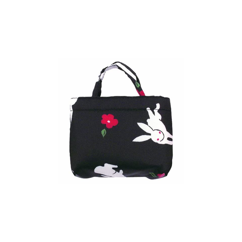 62d146da59f9 Flower and Rabbit Large Japanese Kimono Print Shopper Tote on PopScreen
