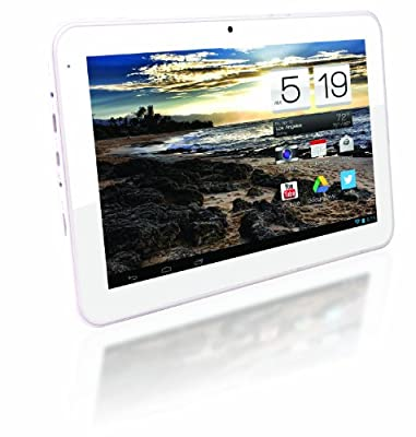 AXESS TA2513-10WT 10-Inch Dual Core Android Tablet in White Color - RockChip 3066 1.6 GHz ~ 8GB Storage ~ 1GB RAM ~ 1024 x 600 resolution ~ Android 4.2.2 Jelly Bean w/ Google Play ~ Dual Camera ~ 5000 mAh Battery! by Axess