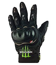 BikenWear BW-8-XL Monster Gloves Black-XL