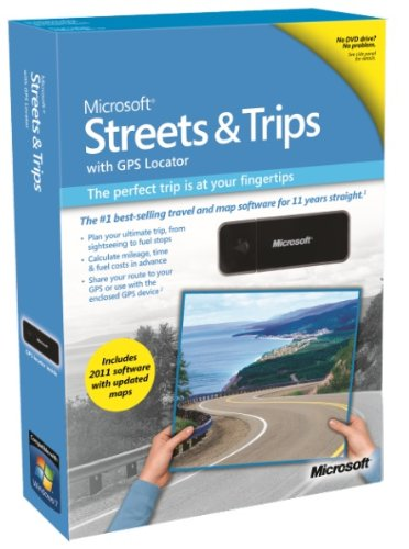 Microsoft Streets & Trips with GPS Locator 2011