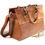 JiYe Womens Retro Leather Leisure Hangbag Shoulder Bag