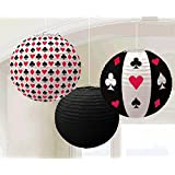 Casino Printed Lanterns Party Decorations