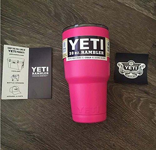 YETI Rambler Tumbler 30oz Hot Pink Stainless Steel
