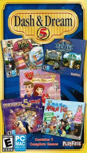Dash & Dream Bonus 5 Pack: Diner Dash 5 Boom, Dream Chronicles 1 & 2, Avenue Flo, Hotel Dash, Wedding Dash front-598551
