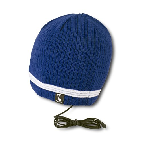Tooks Velocity Headphone Beanie Hat With Built-In Removable Headphones - Color: Cadet Blue