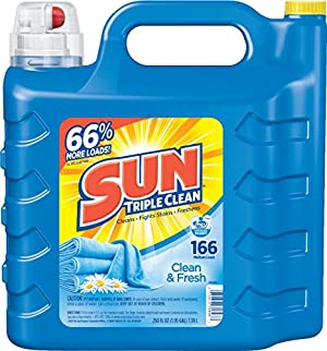 Sun Ultra Liquid Laundry Detergent, Clean and Fresh, 250 Ounces