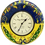"Gangamani Fashions 12"" Designer Wooden Painted Wall Clock / Wall Decorative / Hanging Clock / Birthday Gift / Home Decor / Wedding Gift"