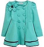 niceeshop(TM) Enfant Mode Fleur à Double Boutonnage Trench Manteau