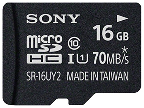 SONY Micro SD SR-16UY2A  SDHC UHS-1 Class 10 16GB Memory Card  + Adapter 70 MB/s  available at amazon for Rs.377