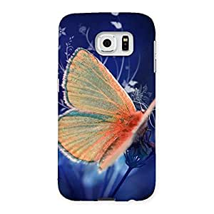 Ajay Enterprises Baterfly with Blue BG Back Case Cover for Samsung Galaxy S6