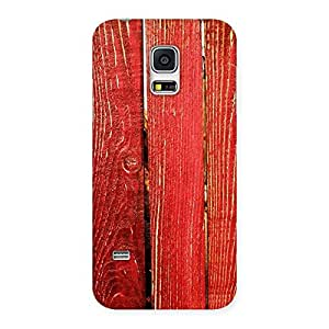 Gorgeous Red Bar Wood Print Back Case Cover for Galaxy S5 Mini