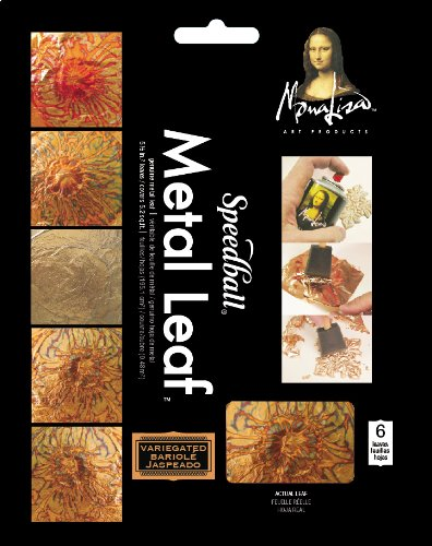 Speedball Mona Lisa Black Variegated Leaf, 6 Sheet Pack