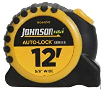 Johnson Level and Tool 1804-0012 12-Foot x 5/8-Inch Auto-Lock Tape
