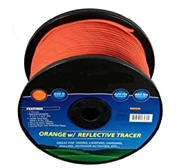 660LBS Breaking Point Paracord Spool 500ft Forest Orange Color