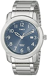 Timex Men's T2P1329J Elevated Classics Silver-Tone Watch with Expansion Band