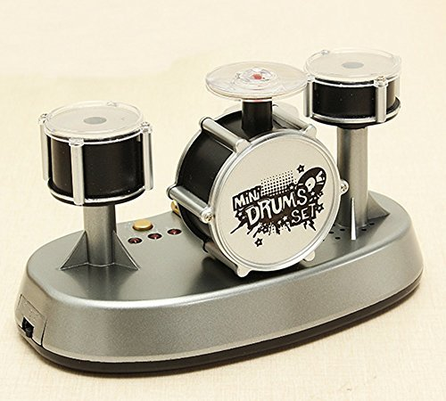 [Mini Finger Drum Set Music Touch Drumming LED Light Jazz Percussion Desk Toy Electronic] (Little Boy Football Player Costume)