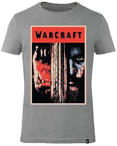 gozoo-warcraft-t-shirt-homme-the-beginning-100-coton-imprime-de-haute-qualite-gris-xl