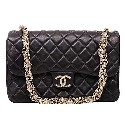 authentic-chanel-black-lambskin-westminster-pearl-flap-bag-article-a94305-y09157-made-in-france