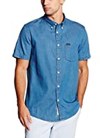 Lee Camisa Hombre Button Down Ss (Denim)