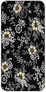 Snoogg Black Yellow Pattern 2480 Designer Protective Back Case Cover For Micromax Canvas Spark Q380