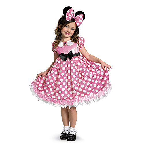 Disney Minnie Mouse Clubhouse Glow In The Dark Costume, Pink/White, X-Small