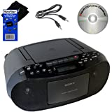 Sony CD Radio Cassette Recorder Bundled with AC Power Auxiliary Cable for iPods, iPhones, Smartphones, MP3 Players...