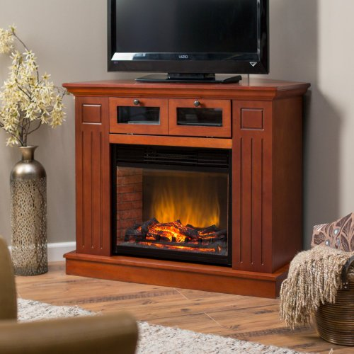 Kent Convertible Media Center 23 inch LED Electric Fireplace - Mahogany image B00FSKVM86.jpg