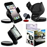 Wayzon Black 360° Rotation Car Windscreen Windshield Dash board Suction Mount Dock Cradle Universal Phone Holder For Apple iPod touch 5 5G 5th Generation