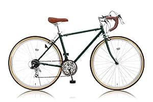 Raychell(レイチェル) 700Cクラシカルロードバイク シマノ21段変速[サムシフター] 2WAYブレーキシステム搭載 フレームサイズ470 RD-7021R アイビーグリーン