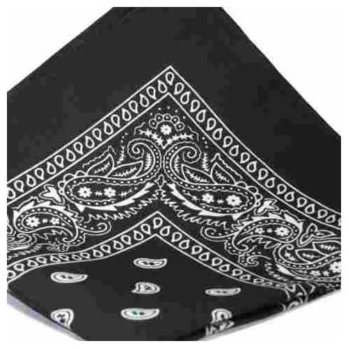 Black And White Paisley Bandana Pattern Black Bandana With White