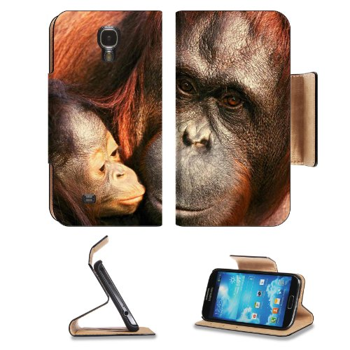 Gorilla Baby Chimpanzees Ape Animals Samsung Galaxy S4 Flip Cover Case With Card Holder Customized Made To Order Support Ready Premium Deluxe Pu Leather 5 Inch (140Mm) X 3 1/4 Inch (80Mm) X 9/16 Inch (14Mm) Luxlady S Iv S 4 Professional Cases Accessories front-1039641