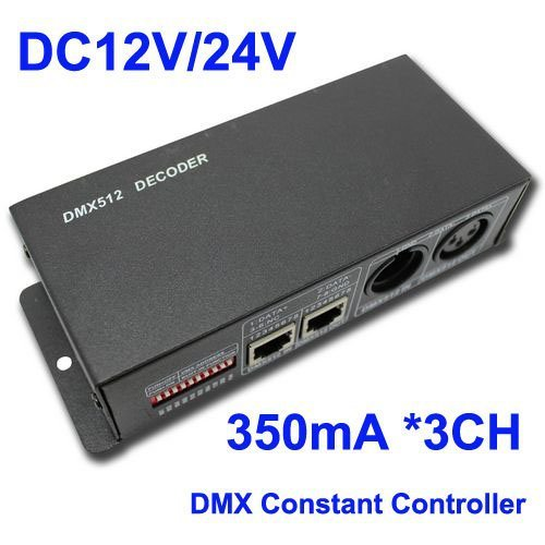 Dmx 512 Decoder Led Rgb Controller,350Ma *3Channels Rgb Constant Current For Led Strip Light,Retail,Wholesalekingneonlux