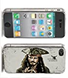 Clearprints Jack Sparrow Iphone Case (4,4s,5) Johnny Depp Pirates of the Caribbean, Model: Iphone 4/4s